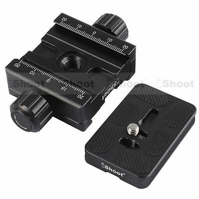 Double-sided Clamp + Plate for AS Camera Tripod Ball Head Quick Release Plate