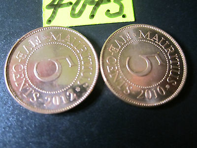 2 x Assorted COINS  Mar4043  from MAURITIUS  16  gms