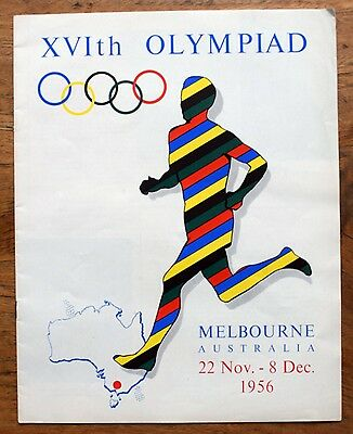 OLD PROGRAMME & introduction to towns XV1th Olympiad Melbourne Australia 1956