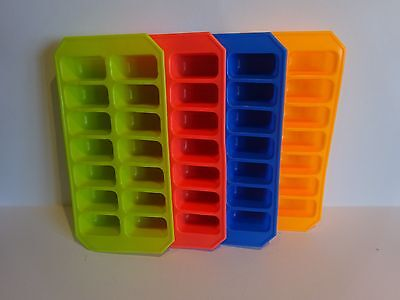 Silicone Soft Splash Ice Cube Tray Flexible With Various Colours, By Apollo. 1x