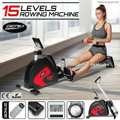 Exercise Rowing Machine Rower Strength Cardio Fitness Whole Body Trainer