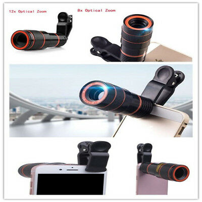 12X/8X ptical Zoom HD Telescope Camera Lens For Universal Mobile Phone