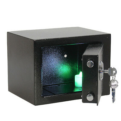 Iron Steel Key Security Money Jewelry Safe Box Safety Home Office Hevey Duty