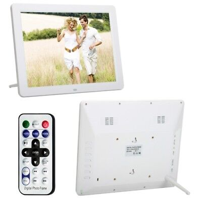 i-TECH White 12.0 Inch LED Display Multi-media Digital Photo Frame with Holder