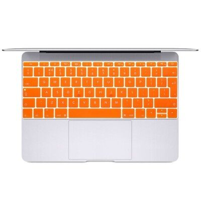 Hi-TECH Orange Soft 12 inch Translucent Colorized Keyboard Protective Cover Ski