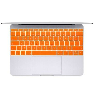 TECH Orange Soft 12 inch Translucent Colorized Keyboard Protective Cover Skin f