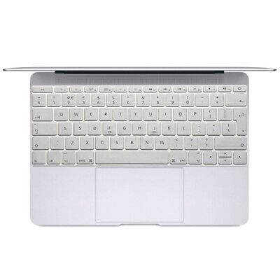 TECH Silver Soft 12 inch Translucent Colorized Keyboard Protective Cover Skin f