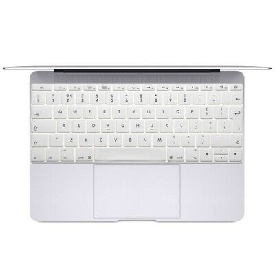 Hi-TECH White Soft 12 inch Translucent Colorized Keyboard Protective Cover Skin