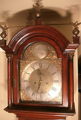 "Antique Mahogany "" Reigate "" Brass Dial 8 Day Grandfather / Longcase Clock"