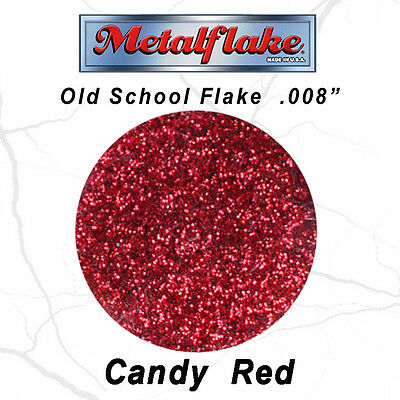 Metal Flake Red Auto Glitter (0.008) Custom Paint Flakes 30Gram 1Oz Candy Red
