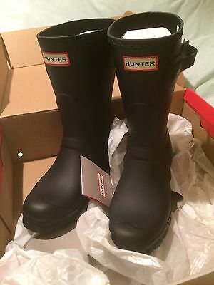 Hunter Wellie Boot Lady Size 5 Girl Black Music Festival Horse Lady Garden Farm