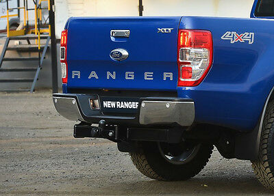 Ford Ranger 2012 On 2.2TD & 3.2TD T6 Single / Double Cab Chrome Rear Step Bumper