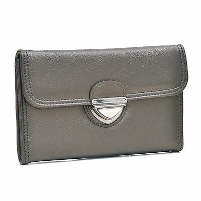 New Dasein Women Trifold Leather Wallet Card Slot Holder Bag Purse Checkbook