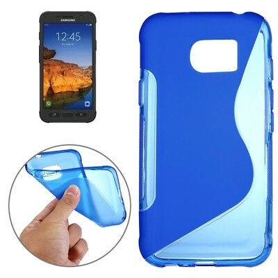 ELETTRONICA Dark Blue For Samsung Galaxy S7 Active S-Shaped Soft TPU Protective