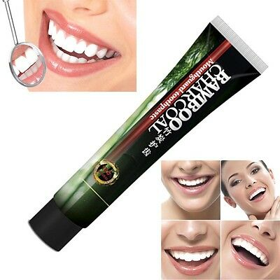 Useful Bamboo Charcoal Teeth Whitening Removes Stains Teeth Care Toothpaste 120g