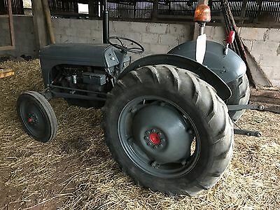 Early Petrol Grey Fergy,all Up And Running,sweet Little Tractor.