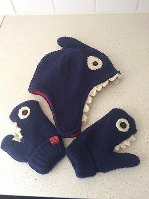 Joules Shark Hat And Gloves