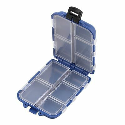 10 Compartments Storage Case Box Fly Fishing Lure Spoon Hook Bait Tackle BG