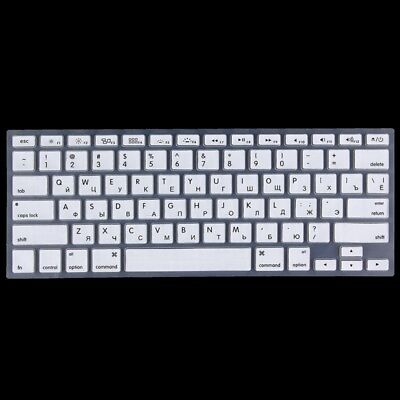 TECH White Colorized Apple Laptop Silicone Keyboard Protector Protective Film f