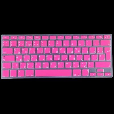 TECH Magenta Colorized Apple Laptop Silicone Keyboard Protector Protective Film