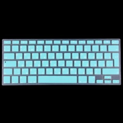 TECH Baby Blue Colorized Apple Laptop Silicone Keyboard Protector Protective Fi
