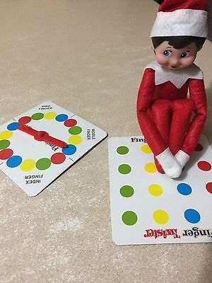 Elf Doll Props Can Sit On The Shelf Twister Game
