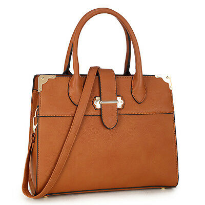 New Women Leather Work Satchel Laptop Briefcase Handbag Day Purse Shoulder Bag