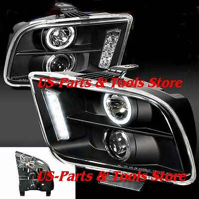 FORD MUSTANG 2005 - 2009 PROJECTOR SCHEINWERFER LED black 05 09 06 07 08 2008