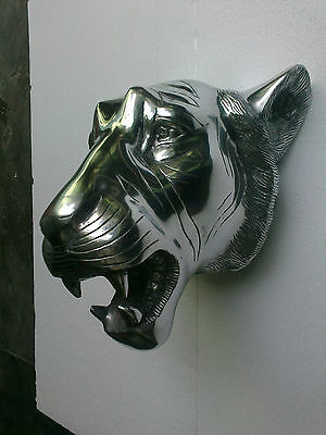 Large Metal Lion Wall Sculpture Figurine Statue 14x10 inches us/