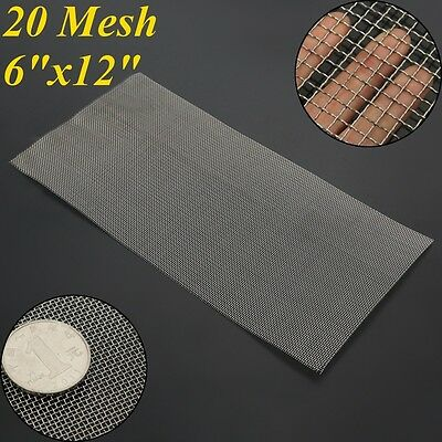 Stainless Steel 304 Mesh #20 .016 Filtration Woven Wire Cloth Screen 6''x12''