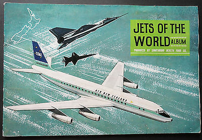 AIRCRAFT OF THE WORLD  - 1960s - COMPLETE SET 48 AIRCRAFT CARDS  - SHELL OIL NZ