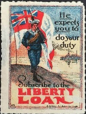 Australia war savings red Liberty Loan Label MNH #2