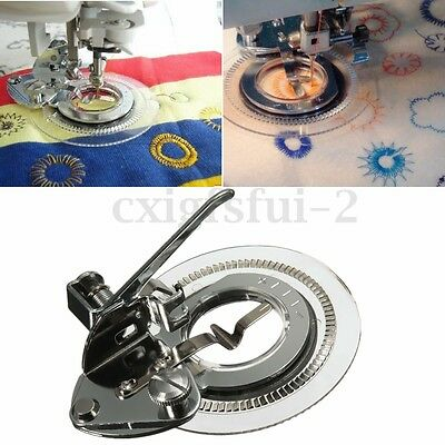Flower Stitch Embroidery Sewing Machine Foot for Brother Singer Janome Juki