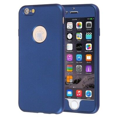ELETTRONICA Dark Blue For iPhone 6 & 6s 360 Degrees Full Protection Soft TPU Ba