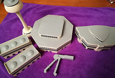 6 Airport Buildings Herpa ? Items C Tower Arrival hall, and  gangway, 1:500 aprx