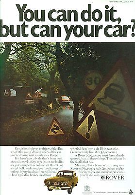 1970 Rover P6 2000 Colour Magazine Advert