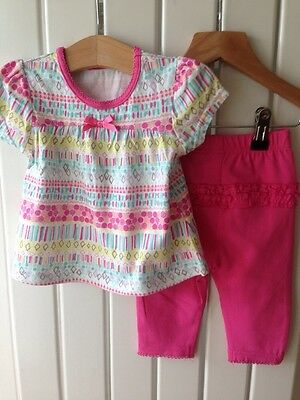Baby Girl's Clothes 3-6 Months - 2pc BNWOT Funky Tunic Outfit With Leggings
