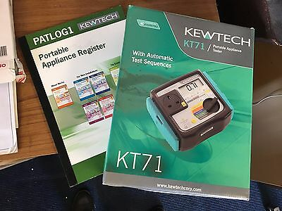 Kewtech KT71 Mains Powered Portable Appliance Tester with PATLOG1 Register