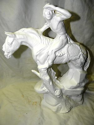 Ceramic Bisque Ready to Paint 1x Native American Indian Scout on Horse