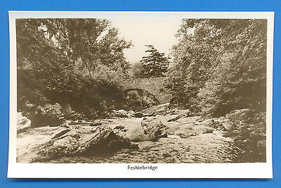 Feshiebridge.john Mackay Real Photographic Postcard
