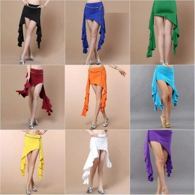 Women Belly Dance Costume Hip Scarf Tribal Belt Irregular Dance Skirt Costume US