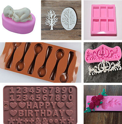 3D Silicone Cake Mold Chocolate Pastry Baking Mould Decor Sugarcraft DIY 7 Model