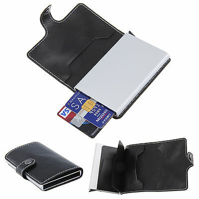 Hot Sale Classic Rfid ID Credit Card Protector Unisex Slim Leather Wallet Holder