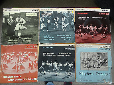 """Lot of 12 x Folk/Country Dance 7"""" EPs *ALL VG+ or Better**"""