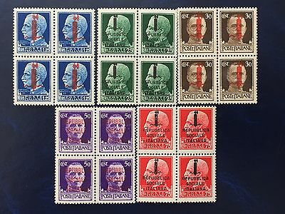 Italy 1944 Repubblica Sociale Italiana lot of 20 stamps MNH