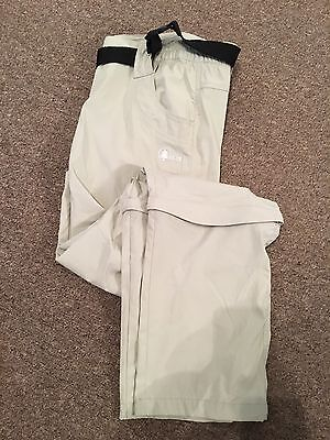 Crivit Outdoor Size 16 Cutoff Trousers Walking Outdoor Beige Active Scout Leader