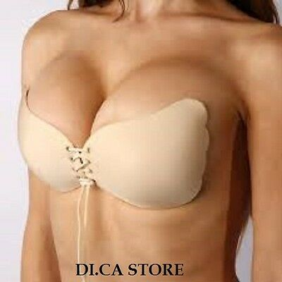 Reggiseno Invisibile Senza Spalline Push Up Bra Invisibile Schiena Nuda Aderente