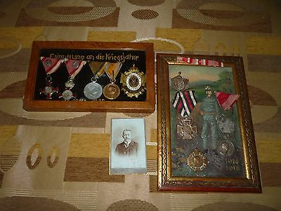 WWI Austrian Hungarian Monarchy Military Medal collection 10 piece + photo WW1