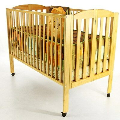 Infant Baby Toddler Crib Bed Full Size Folding Nursery Furniture Convenience