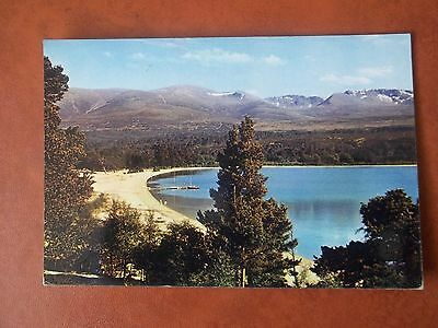 Old Postcard Of Loch Morlich & Cairngorms Inverness-Shire